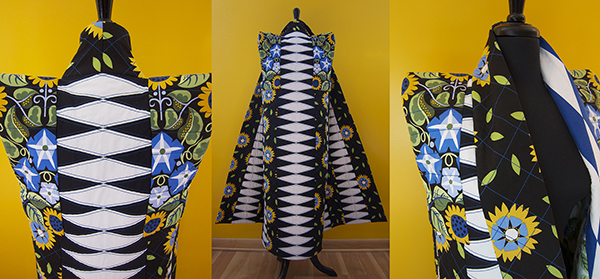 Folkwear Coat Jane Sassaman Fabric