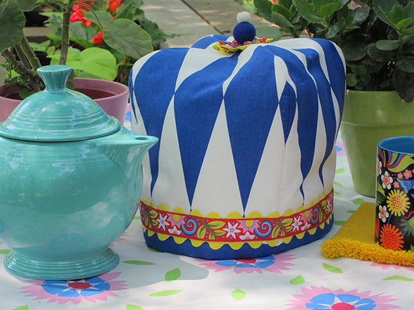 Sassaman Blue Tea Cozy Ribbon