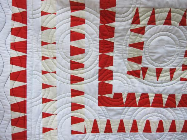 Sassaman Red & White Quilt Detail