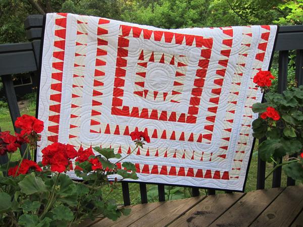 Sassaman Red & White Quilt