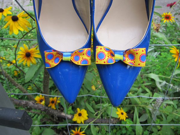 Sassaman Ribbon Blue Shoes