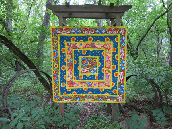 Sassaman Wild Child Log Cabin Quilt 1