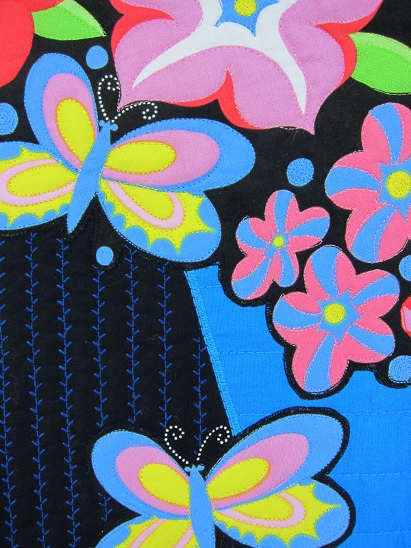 Sassaman Wild Child Petunia Quilt 2