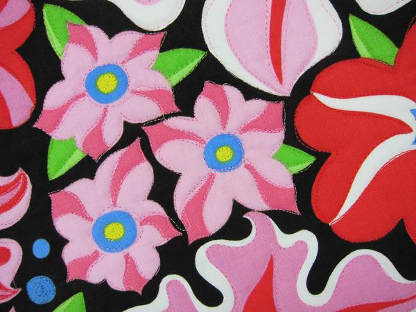 Sassaman Wild Child Petunia Quilt 3