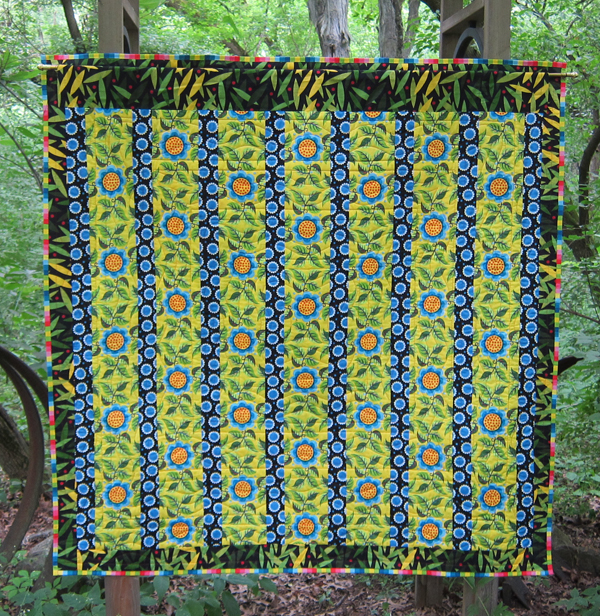 Sassaman Wild Child Quilt Back