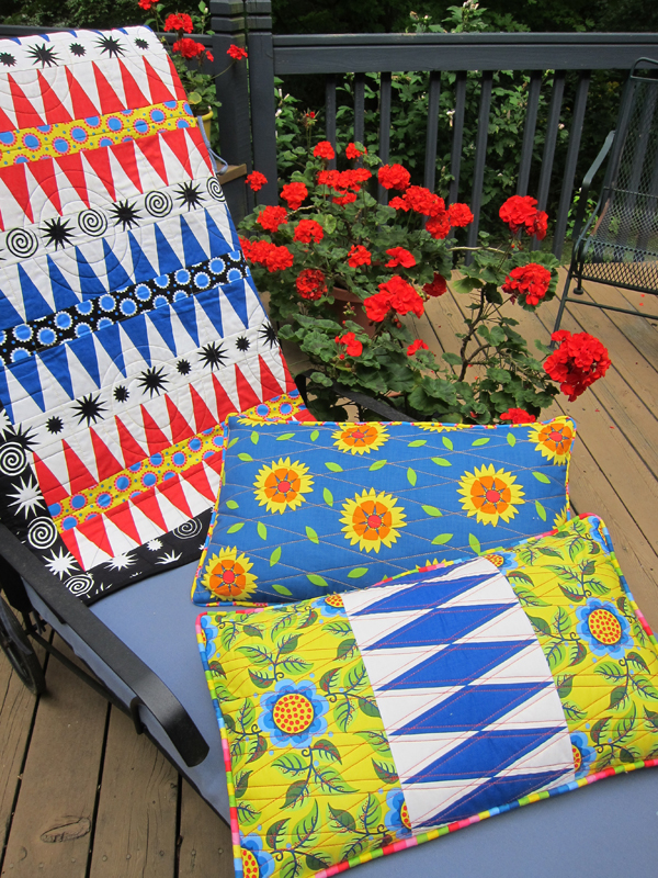 Sassaman Wild Child quilt & Pillows 2