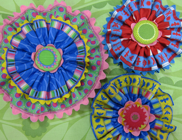 Sassaman Ribbon Brooches