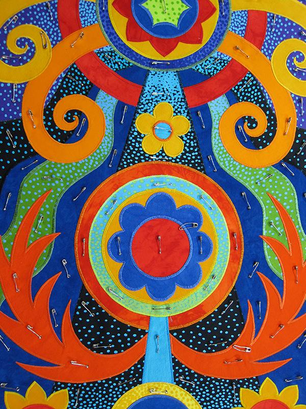 Sassaman Art Quilt Totem 3