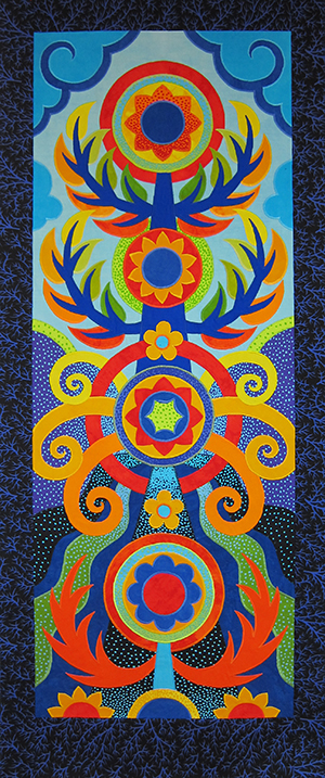 Sassaman Art Quilt Totem
