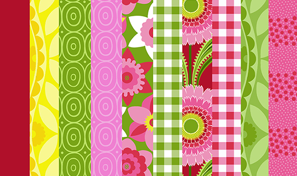 Sassaman Watermelon Fabrics 2