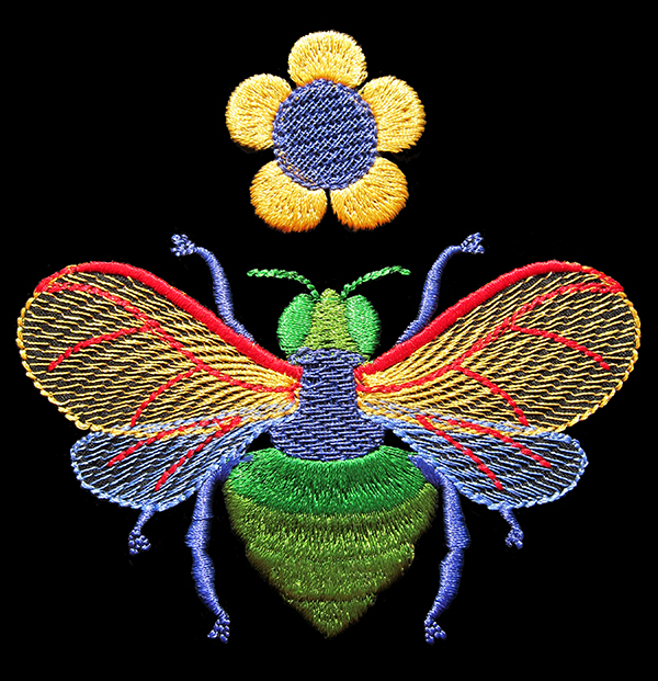 Sassaman Bee Embroidery Web