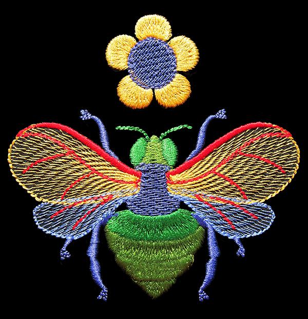 Sassaman Bee Embroidery Web