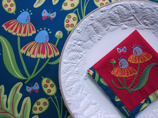 Sassaman Coneflower Embroidery