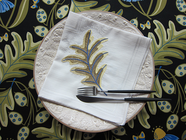 Sassaman Oak Leaf Embroidery