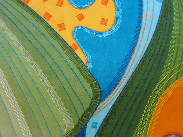 Sassaman Spring Bud Quilt Detail